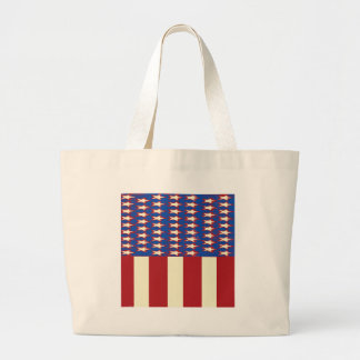 flag 2017 Celebrate the 4th of July Large Tote Bag