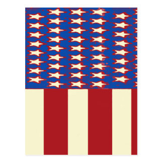 flag 2017 Celebrate the 4th of July Postcard