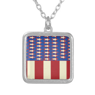 flag 2017 Celebrate the 4th of July Silver Plated Necklace