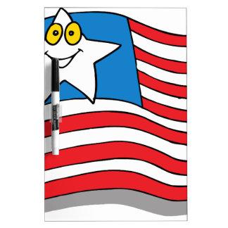 flag-4664 dry erase board