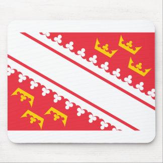 Flag Alsace (France) Drapeau Alsace Flagge Elsass Mouse Pad