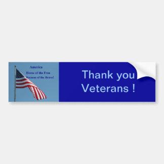 Flag, America Bumper Sticker