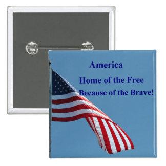 Flag, America Button