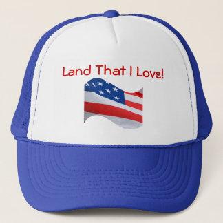 Flag, America, land That I Love! Trucker Hat