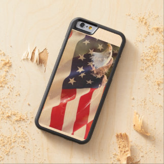 Flag American USA Red White Blue Stripes Art Carved® Maple iPhone 6 Bumper