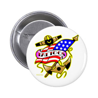 Flag Anchor Tattoo Buttons