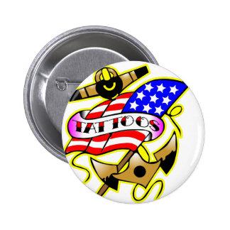Flag Anchor Tattoo Button