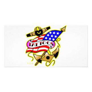 Flag Anchor Tattoo Card