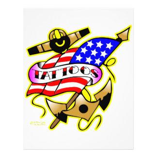 Flag Anchor Tattoo Flyer