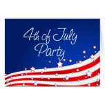 Flag and Background 4th of July Party Greeting Cards
