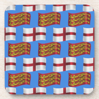 Flag and Banner of England Coasters