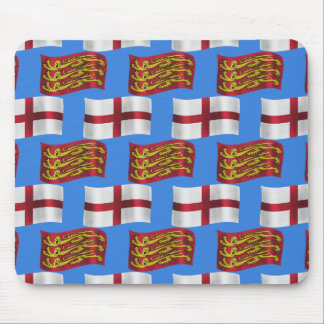Flag and Banner of England Mouse Pad