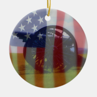 Flag and Cannon Ornament