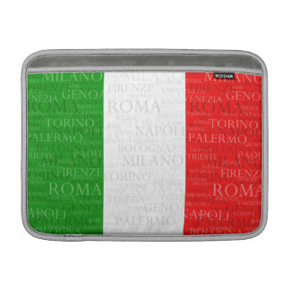 Flag and Cities of Italy MacBook Air Sleeve
