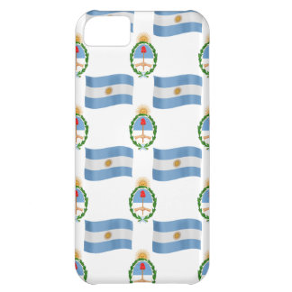 Flag and Creast of Argentina Case For iPhone 5C