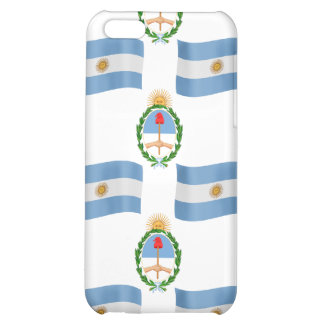 Flag and Creast of Argentina Cover For iPhone 5C