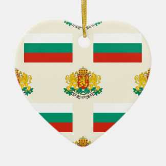 Flag and Creast of Bulgaria Ceramic Ornament
