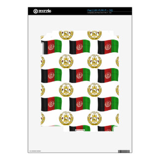 Flag and Crest of Afghanistan Decal For The iPad 2