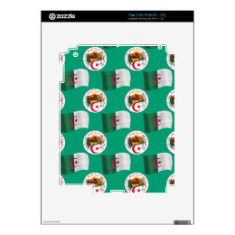 Flag and Crest of Algeria Decal For iPad 2