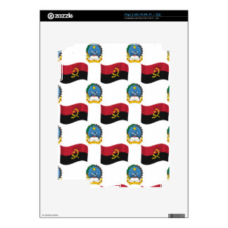 Flag and Crest of Angola Skin For iPad 2