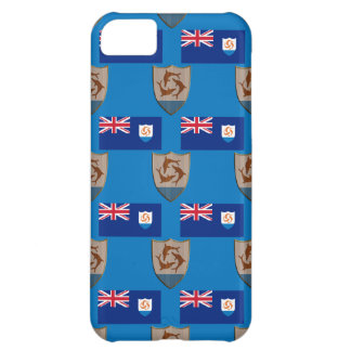 Flag and Crest of Anguilla Case For iPhone 5C