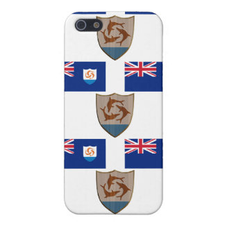 Flag and Crest of Anguilla iPhone SE/5/5s Case