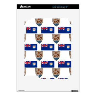 flag and Crest of Anguilla Skin For iPad 2