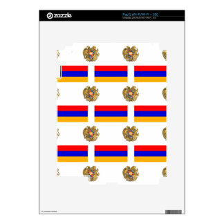 Flag and Crest of Armenia Decal For iPad 2