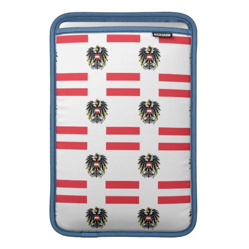 Flag and Crest of Austria Sleeve For MacBook Air