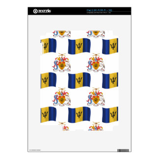 Flag and Crest of Barbados Decal For iPad 2