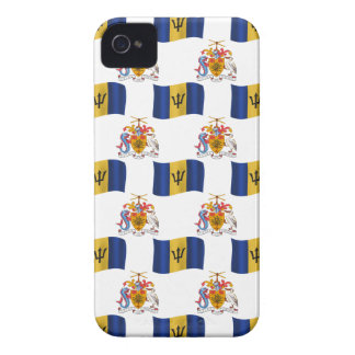 Flag and Crest of Barbados iPhone 4 Case-Mate Case