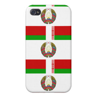 Flag and Crest of Belarus Covers For iPhone 4