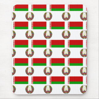 Flag and Crest of Belarus Mousepad