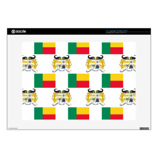Flag and Crest of Benin Decals For Laptops