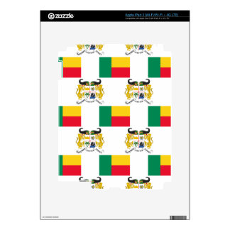 Flag and Crest of Benin iPad 3 Skin