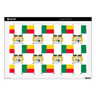 "Flag and Crest of Benin Skin For 17"" Laptop"