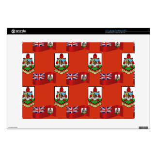 Flag and Crest of Bermuda Decal For Laptop