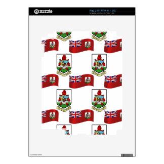 Flag and Crest of Bermuda iPad 2 Decals
