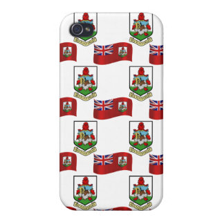 Flag and Crest of Bermuda iPhone 4/4S Case