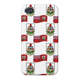 Flag and Crest of Bermuda iPhone 4 Case
