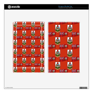 Flag and Crest of Bermuda Kindle Fire Skin