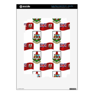 Flag and Crest of Bermuda Skin For iPad 3