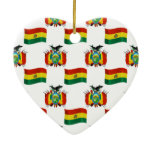 Flag and Crest of Bolivia Christmas Tree Ornament