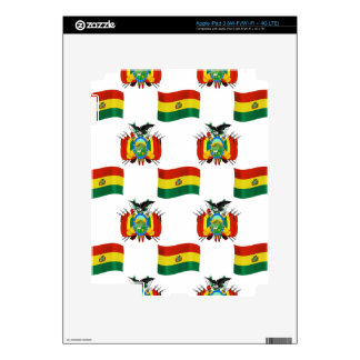 Flag and Crest of Bolivia iPad 3 Decals