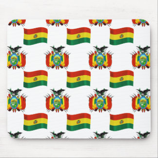 Flag and Crest of Bolivia Mouse Pad