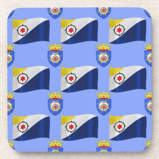 Flag and Crest of Bonaire Drink Coaster