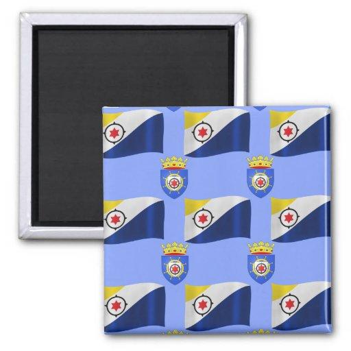 Flag and Crest of Bonaire Fridge Magnet