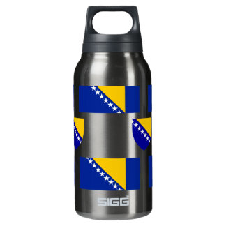 Flag and Crest of Bosnia-Herzegovina Insulated Water Bottle