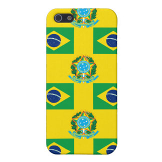 Flag and Crest of Brazil Cases For iPhone 5