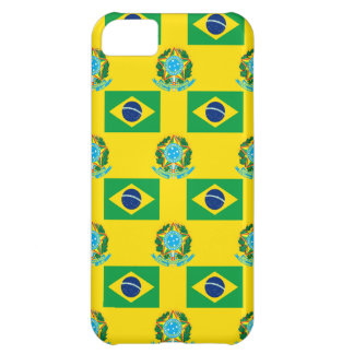 Flag and Crest of Brazil Cover For iPhone 5C